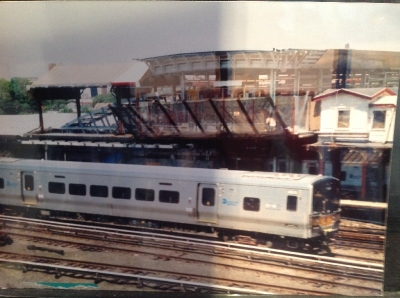 [New York]Photo of a LIRR 2 car M7 electric multiple unit taken at Jamaica Station. These trains have reliability levels that compare starkly with UK practice with 150,000 miles per casualty. The best in UK is around 50,000 miles the worst is around 1200 miles. You can see the space devoted to the disabled toilet. The