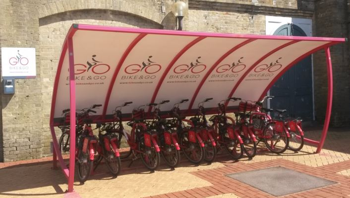 Bike&Go introduced by Abellio Greater Anglia based on a scheme in the Netherlands has not attracted many users, for whatever reason, as the cycle racks seem to be full most of the time at all stations