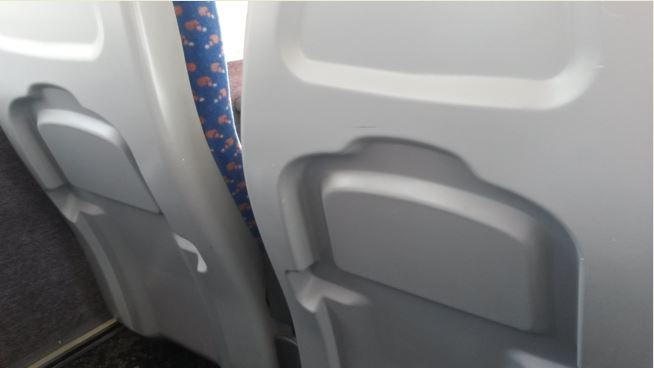 When some of the 1980s Sprinter trains had their mid-life refurbishments the seatback tables were removed presumably to reduce maintenance as they broke easily. Sadly, the passengers' needs were less important to the train operator