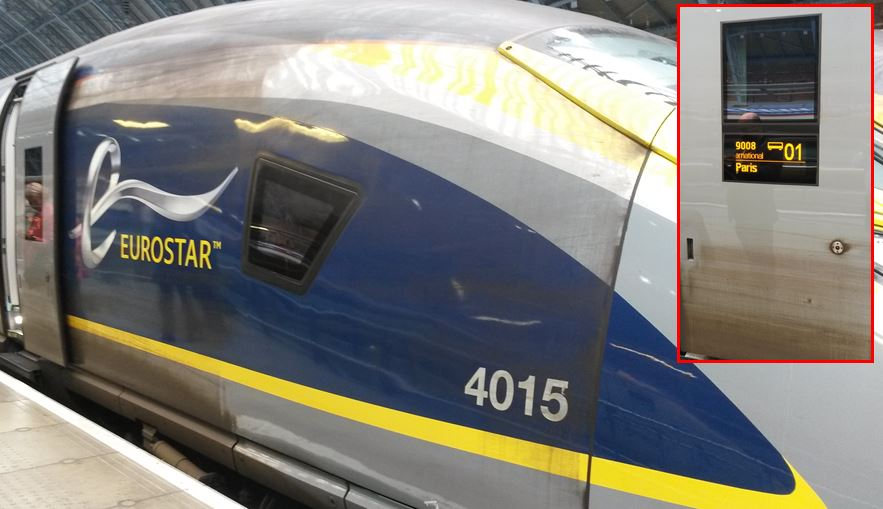 [Eurostar]It is disappointing that Eurostar does not clean the outside of their trains properly and allow them to enter passenger service at the start of the day in a dirty state