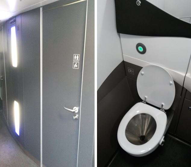 [Eurostar]The new Eurostar e320 trains have modern toilets and wash basins unlike the older e300 trains