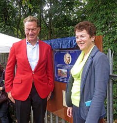 At Hadley Wood station with Michael Portillo and Gresley plaque