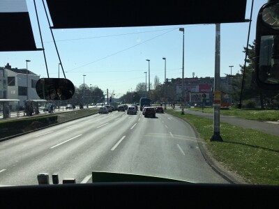 The competition: the Flixbus leaving Zagreb
