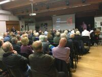 Photo of the audience at a public meeting on Shrewsbury on 12 October 2019, which was organised by Railfuture West Midlands