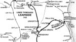 Leamside line northern section showing routes to Washington in 1948