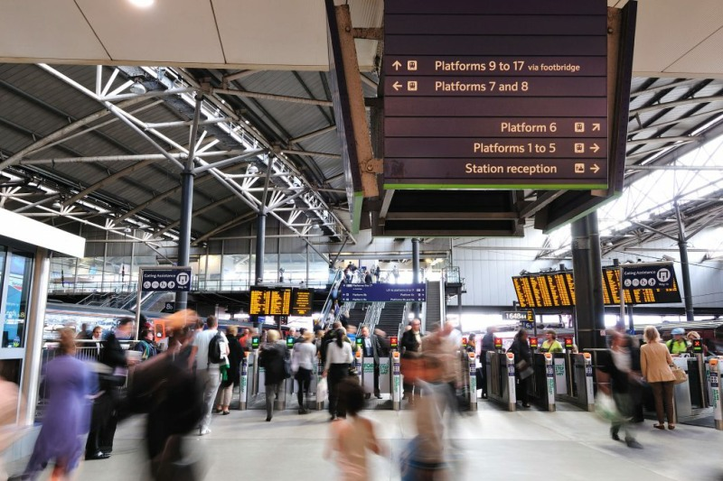 Leeds station passengers (courtesy of Network Rail)