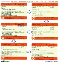 Scan of six 'split tickets' for a single rail journey shows the ridiculous lengths that one can go to in order to save money - why is the fare system so complicated and illogical?