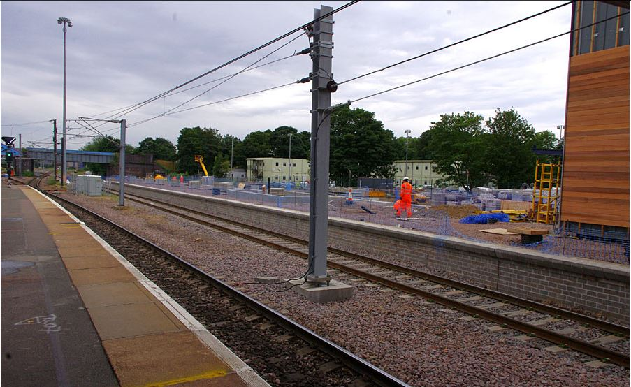 Facing South with a clear view of the work in progress on Platform 6 and 7 on the right. Photo: Owen Smithers