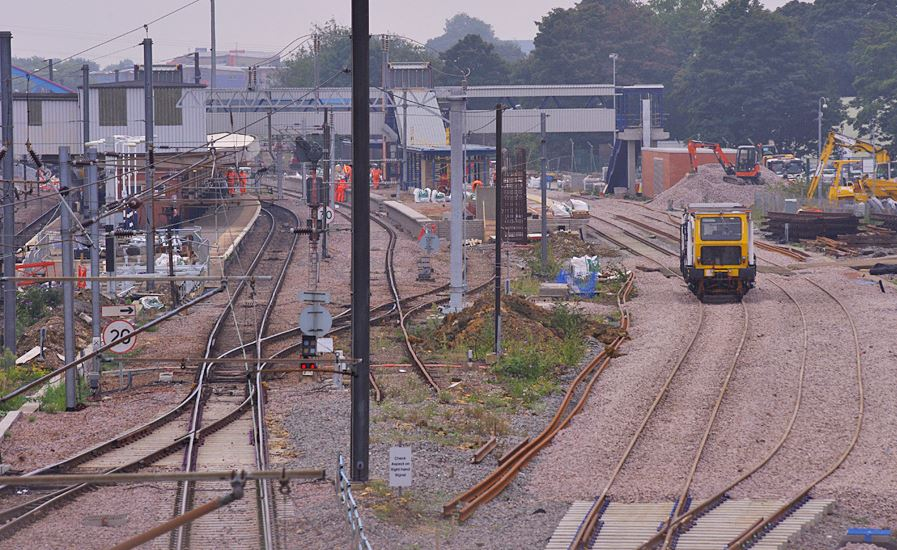 Taken from the North end of the Station showing the progress of the construction of two new platforms 6 and 7. Photo: Owen Smithers