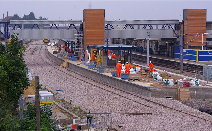 The two tracks have not yet been commissioned for Passenger traffic. Photo: Owen Smithers